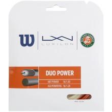 CORDA WILSON DUO POWER ROLAND GARROS : LUXILON ALU POWER & WILSON NXT POWER 1.25 (12.20 METRI)