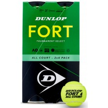 BIPACK DI 4 PALLINE DUNLOP FORT TOURNAMENT SELECT