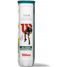 TUBO DI 4 PALLINE WILSON TOUR ALL COURT