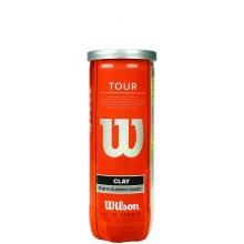 TUBO DI 3 PALLINE DA TENNIS WILSON TOUR CLAY