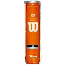 TUBO DA 4 PALLINE DA TENNIS WILSON TOUR CLAY