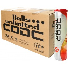 CARTONE DA 18 TUBI DA 4 PALLINE BALLS UNLIMITED CODE RED