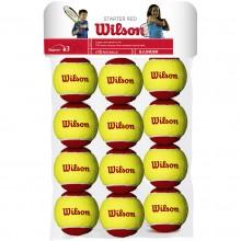 SACCHETTO DA 12 PALLINE WILSON STARTER RED