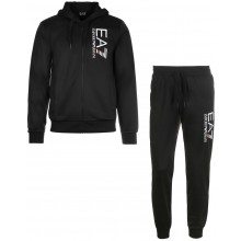 FELPA CON CAPPUCCIO EA7 TRAINING FUNDAMENTAL SPORTY 7 LINES ZIP