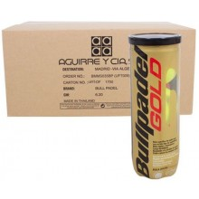 CARTONE 24 TUBI DA 3 PALLINE BULLPADEL GOLD