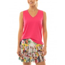 GONNA LUCKY IN LOVE HI HOT TROPIC PLEATED SCALLOP