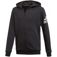 FELPA CON CAPPUCCIO ADIDAS ZIPPE TRAINING JUNIOR BOS LOGO FLEECE