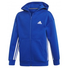 FELPA CON CAPPUCCIO ADIDAS ZIPPE TRAINING JUNIOR MUST HAVE 3S