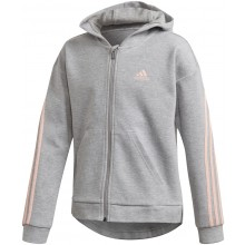 FELPA CON CAPPUCCIO ADIDAS JUNIOR RAGAZZA 3 STRIPES ZIP