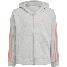 SWEAT A CAPUCHE ADIDAS JUNIOR FILLE 3 STRIPES ZIPPE