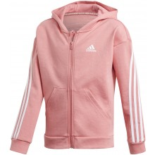 FELPA CON CAPPUCCIO ADIDAS JUNIOR FILLE 3 STRIPES ZIP